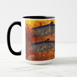 School Of Salmon - 15 oz. Combo Mug