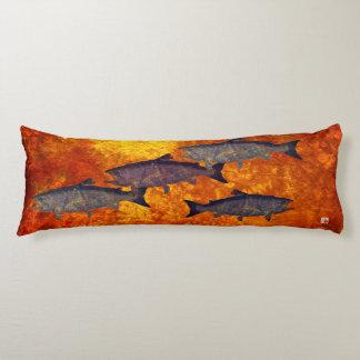 School of Salmon - Body Pillow