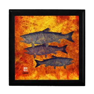 School of Salmon - Jewelry Keepsake Box