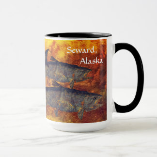 School Of Salmon, Seward, Alaska - Mug