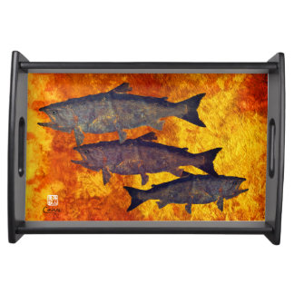 School of Salmon - Small Serving Tray