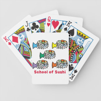 School of Sushi Bicycle Playing Cards