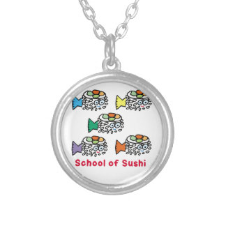 School of Sushi Silver Plated Necklace