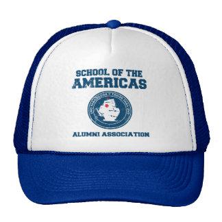 school of the americas3 mesh hats