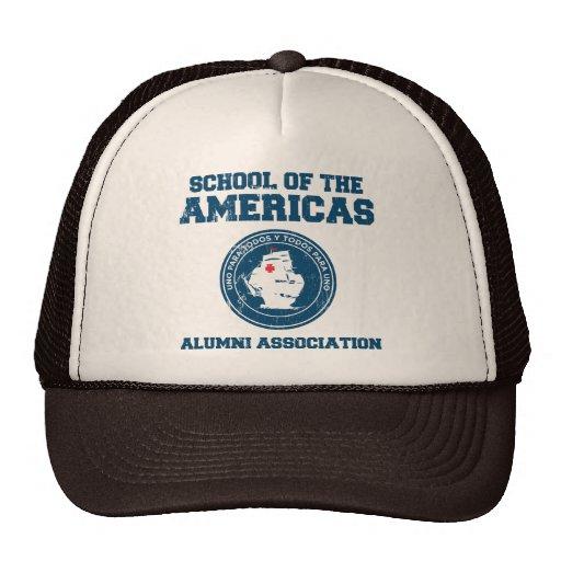 school of the americas alumni mesh hat