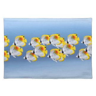 School of Threadfin Auriga Butterflyfish Placemats