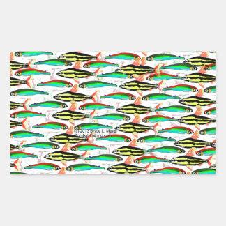 School of Tropical Amazon  Tetras Sticker