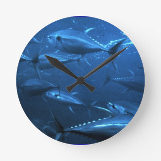 School of Yellowfin Tuna Wall Clock