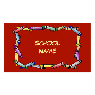 School or Daycare Business Card