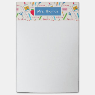 School Personalized Post It Notepad