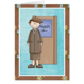 School Principal Female Thank You Card
