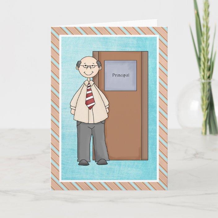 school principal thank you card  zazzleau