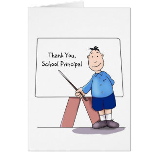 School Principal Thank You Card, from student Card