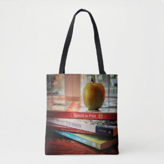 School Psychologist Apple and Books Tote Bag