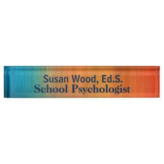 School Psychologist Bold Copper Effect Nameplate