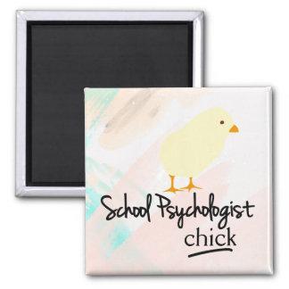 School Psychologist Chick (Magnet) Square Magnet