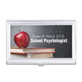 School Psychologist Custom Business Card Holder