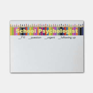 School Psychologist Follow-Up Post-it Notes