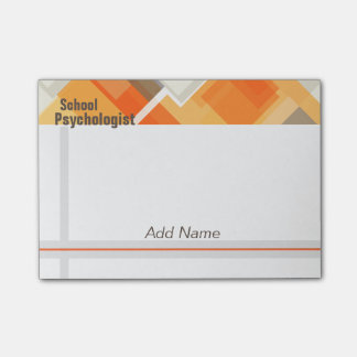School Psychologist Geometric Design Post-it Notes