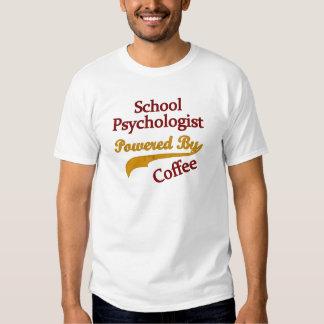 School Psychologist Powered By coffee Tshirt