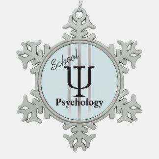School Psychology Pewter Ornament