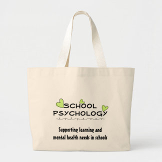 School Psychology Sprouting Hearts Tote Jumbo Tote Bag