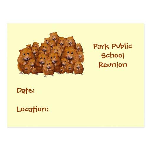 SCHOOL REUNION: Crowd of Hamsters: Cute Postcards