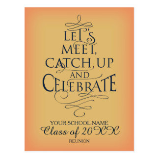 School Reunion design Postcard