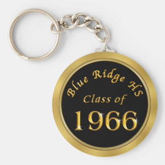 School Reunion Gifts in Your COLORS, SCHOOL, YEAR Basic Round Button Key Ring