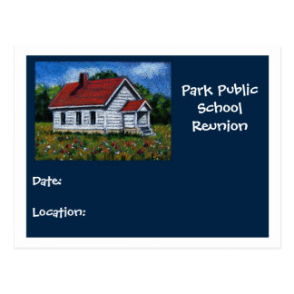 SCHOOL REUNION POSTCARD
