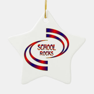 School Rocks Ceramic Ornament