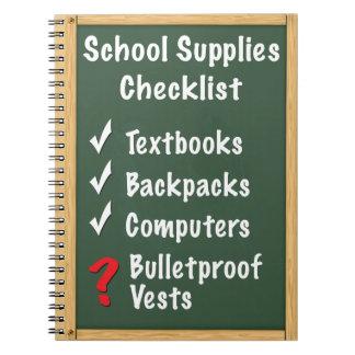 School Safety Supplies Checklist Notebook