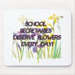 SCHOOL SECRETARIES DESERVE FLOWERS MOUSEPAD