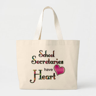 School Secretaries Have Heart Large Tote Bag