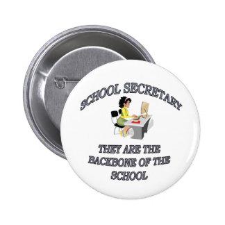 SCHOOL SECRETARY 6 CM ROUND BADGE