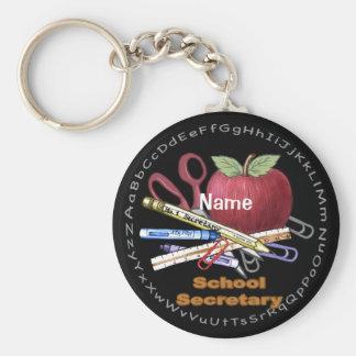 School Secretary basic keychain