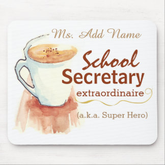 School Secretary Custom Mouse Pad