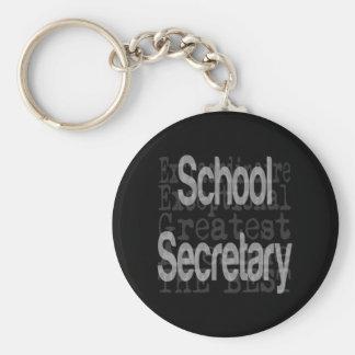 School Secretary Extraordinaire Key Ring