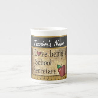 School Secretary Vintage Style Porcelain Mug