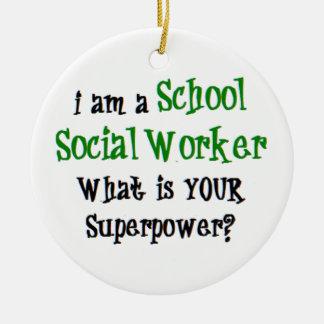 school social worker ceramic ornament