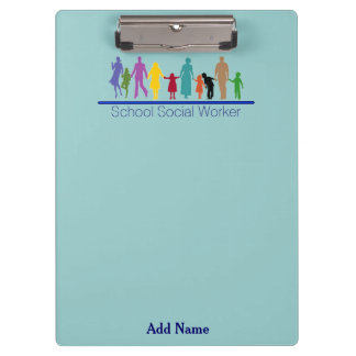 School Social Worker Clip Board