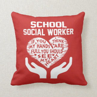 School Social Worker Cushion
