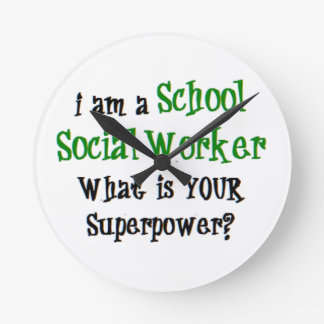 school social worker round clock