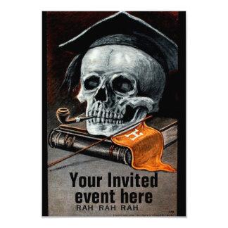 School Spirit Graduation invitation card