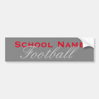 School Sports Bumper Sticker - Grey Background