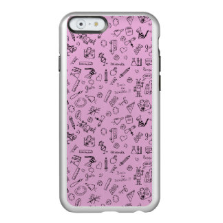 School Supplies Sketches on Pink Incipio Feather® Shine iPhone 6 Case