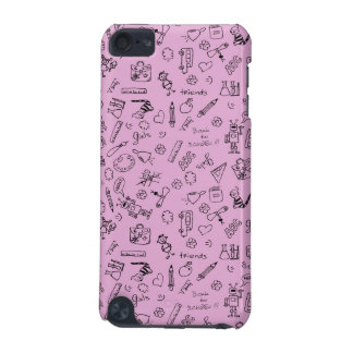 School Supplies Sketches on Pink iPod Touch 5G Case
