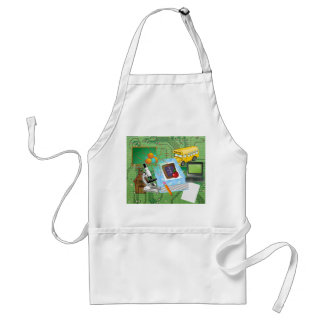 School Supplies & Tools Collage Standard Apron