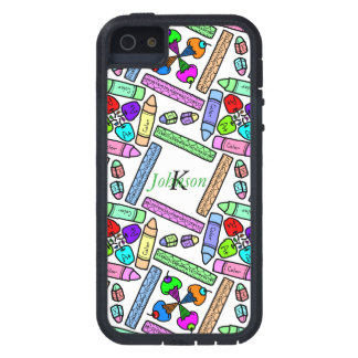 School supply art pattern personalizable iPhone 5 cover