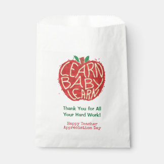 School Teacher Class Thank You | Learn Baby Apple Favour Bags